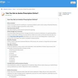 Can You Get an Avelox Prescription Online?