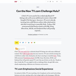 Can the New TV.com Challenge Hulu? - ReadWriteWeb