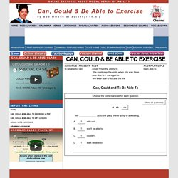 Can, Could and Be Able To Exercise