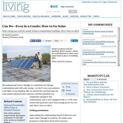 Can Do—Even in a Condo: How to Go Solar