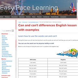 Can can't you English lesson - learning can and you