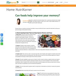 Can foods help improve your memory?