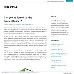 Can you be forced to hire an ex-offender? – Hire Image