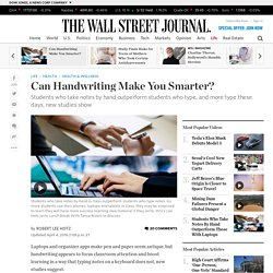 Can Handwriting Make You Smarter?