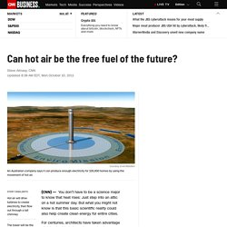 Can hot air be the free fuel of the future?