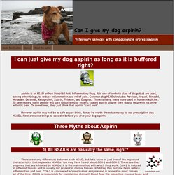 Can I give my dog or cat aspirin?
