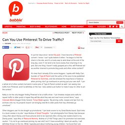 Can You Use Pinterest To Drive Traffic?
