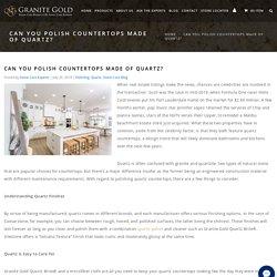 Can You Polish Quartz Countertops?