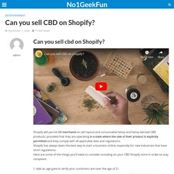 Can you sell CBD on Shopify?