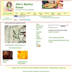 Alex's Mystery Pictures - Guess Close-up Photos