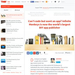Can't code but want an app? Infinite Monkeys is now the world's largest DIY app publisher