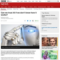 Can we trust AI if we don't know how it works?