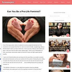 Can You Be a Pro-Life Feminist?