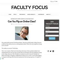 Can You Flip an Online Class?