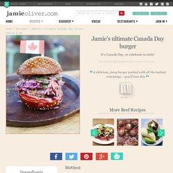 Canada Day Burger