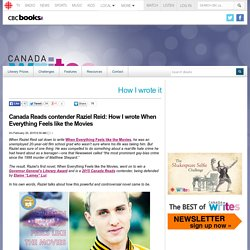 Canada Writes - Canada Reads contender Raziel Reid: How I wrote When Everything Feels like the Movies