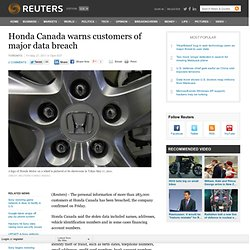 Honda Canada warns customers of major data breach