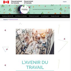 Canada au-delà de 150 - L'avenir du travail