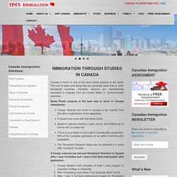 Canada Study Permit Immigration Program – Tims Immigration