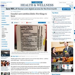 Canada's new nutrition labels: Five things to know