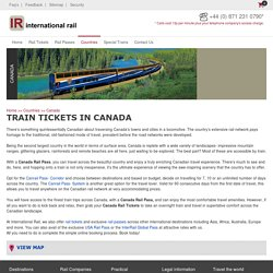 Discover Canada with Canada Rail Passes from International Rail