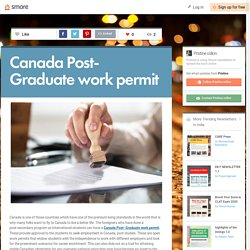 Canada Post- Graduate work permit