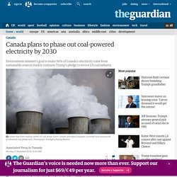 Canada plans to phase out coal-powered electricity by 2030