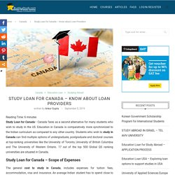 Study Loan for Canada - Loan providers, Study Costs, Loan Expenses