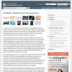 CANADA - Réalités socio-économiques