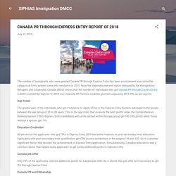 CANADA PR THROUGH EXPRESS ENTRY REPORT OF 2018