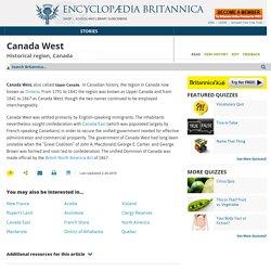 historical region, Canada