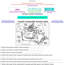 Canada Map/Quiz Worksheet - ZoomSchool.com