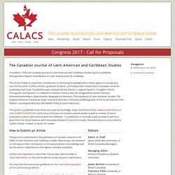 The Canadian Journal of Latin American and Caribbean Studies