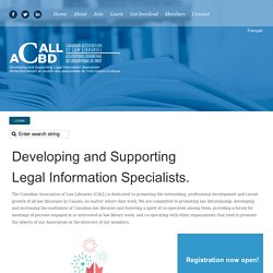CALLACBD :: CALL/ACBD Canadian Association of Law Libraries