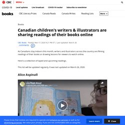 Canadian children's writers & illustrators are sharing readings of their books online