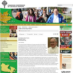 Canadian Conference of Catholic Bishops - Letter to the Holy Father