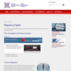 The Canadian Anti-Counterfeiting Network (CACN)