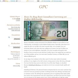 How To Buy Best Canadian Currency 20 Dollar Bill Easily - GPC