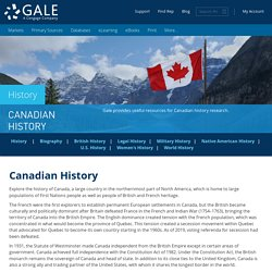 Canadian History Primary Sources, Databases & Resources