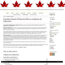 Canadian Journal of Education/Revue canadienne de l'éducation