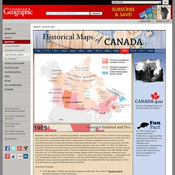Canadian Geographic: Historical Maps 1905