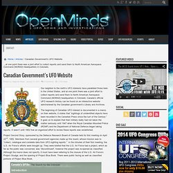 Canadian Government's UFO Website