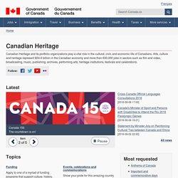 Canadian Heritage - Canada.ca