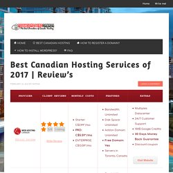 Best Canadian Hosting Services of 2017