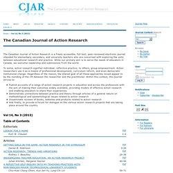 The Canadian Journal of Action Research