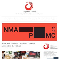 A Writer's Guide to Canadian Literary Magazines & Journals | Magazine Awards