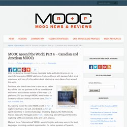 MOOC Around the World, Part 4 - Canadian and American MOOCs