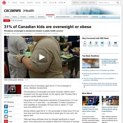 31% of Canadian kids are overweight or obese - Health