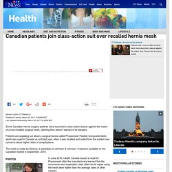 Canadian patients join class-action suit over recalled hernia mesh