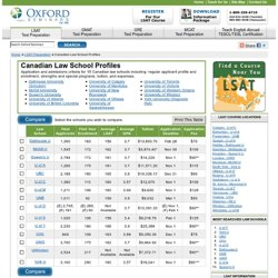 Canadian Law School Profiles - McGill, UBC, UofA, UofT, UVic, York,